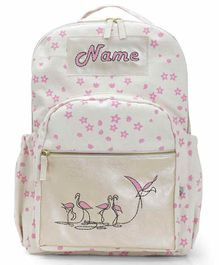 Mi Dulce An'ya Backpack Flamingo Embroidered Pink - 12.2 inches