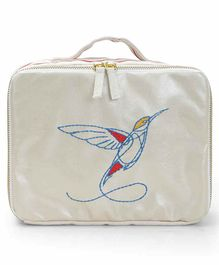 Mi Dulce An'ya Lunch Box Bag Hummingbird Embroidered - Red