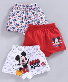 Bodycare Boxer Mickey Mouse Print Pack of 3 - Red