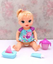 Baby Alive Twinkles and Tinkles Doll with Accessories Pink Blue - Height 10.2 cm