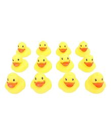 House of kids Duck Shaped Squeeze Bath Toys Set of 12 - Yellow