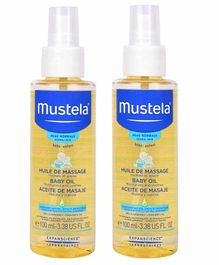 Mustela Baby Oil Pack of 2 - 100 ml Each