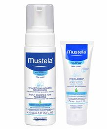 Mustela Foam Shampoo and Baby Cream Combo of 2 - 150 ml, 40 ml