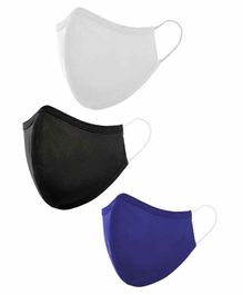Qraa 5 in 1 Hyper Shield Reusable Cotton Face Masks - Pack of 3