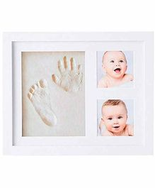 Mold Your Memories Imprint Frame With Clay - White