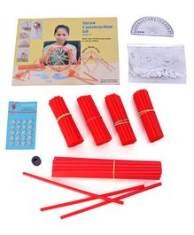 Kutuhal Straw Construction Activity Kit - Multiicolor