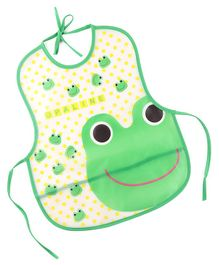 Alpaks Waterproof Apron with Pocket Frog Print - Green