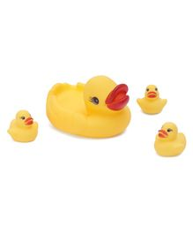 Rising Step Duck Bath Toys Pack of 4 - Yellow