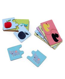 Omocha Objects & Their Shadow Match-Up Jigsaw Puzzle - 24 Pieces