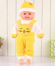 ToyMark Baby Doll with Bear Kitty Patch Yellow - Height 34 cm