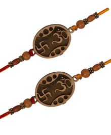 Arendelle Om Swastick Pack Of 2 Rakhi - Brown