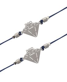 Arendelle Diamond Bro Pack Of 2 Rakhi - Blue