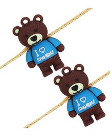 Arendelle Teddy Detailed Pack Of 2 Rakhi - Brown