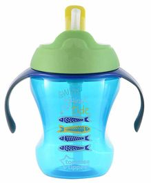 Tommee Tippee Training Straw Cup Blue Green - 230 ml