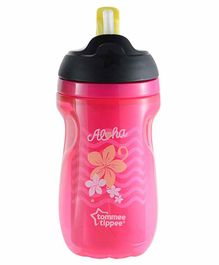 Tommee Tippee Insulated Straw Cup Pink - 260 ml