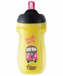 Tommee Tippee Insulated Straw Sipper Yellow - 260 ml