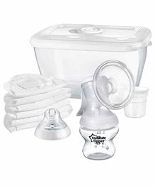 Tommee Tippee Closer to Nature Silicone Manual Breast Pump Kit - White