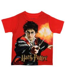 Harry Potter By Crossroads Half Sleeves Character Print Tee - Red