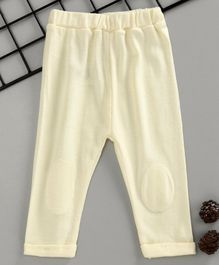 Fox Baby Full Length Solid Color Pajama - Off White