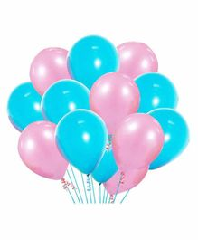 Party Propz Party Latex Balloons Pink Blue - Pack of 20