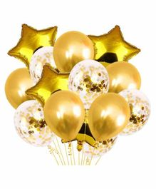 Party Propz Party Balloons Golden - Pack of 14
