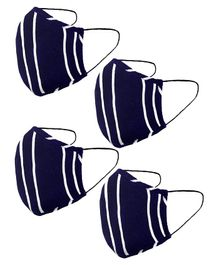 Naughty Ninos Pack Of 4 Striped Masks - Blue