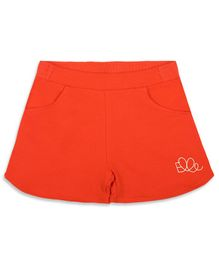Elle Kids Side Pocket Shorts - Red