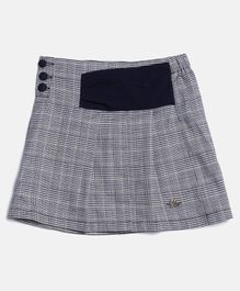Elle Kids Checkered Skirt - Black
