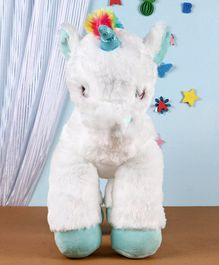Fuzzbuzz Unicorn Plush Toy White - Height 53cm