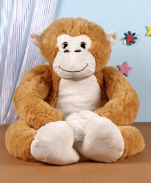 Fuzzbuzz Monkey Animal Plush Soft Toy  Grey - Height 71 cm