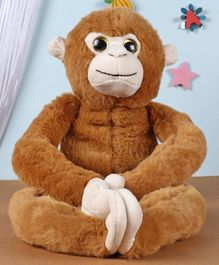 Fuzzbuzz Monkey Animal Plush Soft Toy Brown - Height 61 cm