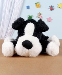 Fuzzbuzz Lying Puppy Soft Toy Black - Length 33 cm