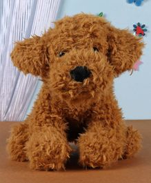 Fuzzbuzz Sitting Dog Light Brown - Height 25cm