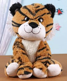 Fuzzbuzz Sitting Tiger Soft Toy - Height 25 cm
