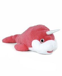 Fuzzbuzz Narwhal Plush Toy Pink - Length 105 cm