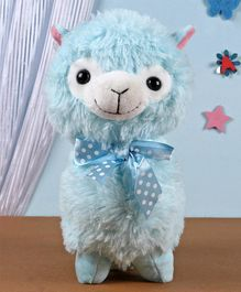 Fuzzbuzz Llama Soft Plush Toy Blue - Height 28 cm