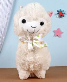 Fuzzbuzz Llama Stuffed Plush Toy  Cream - Height 28 cm