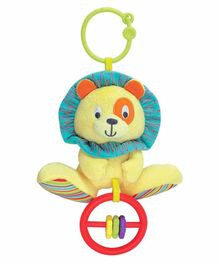 Winfun Caesar The Lion Clip-on Plush Rattle - Yellow