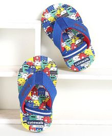 Cute Walk by Babyhug Flip Flops with Back Strap - Blue