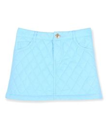 Cherry Crumble By Nitt Hyman Soft Quilted Self Design Skirt - Blue