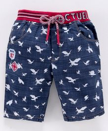 Actuel Denim Bird Print Jamaican Shorts - Blue