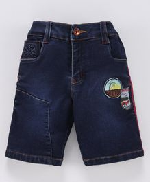 Actuel Denim Good Vibe Embroidered Jamaican Shorts - Blue