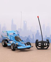 Rising Step Remote Control Car with Lights and Sounds - Blue
