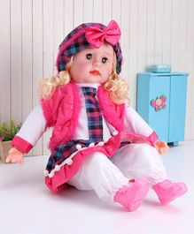 ToyMark Fashion Doll with Music Pink White - Height 51 cm