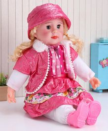 ToyMark Doll with Music White &  Pink - Height 34.5 cm