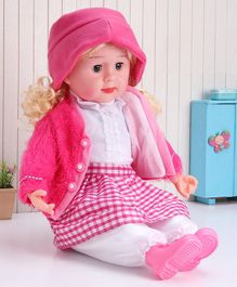 ToyMark Doll with Music  Pink - Height 34.5 cm