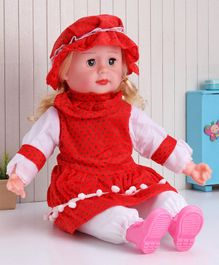 ToyMark Doll with Music Red - Height 34.5 cm