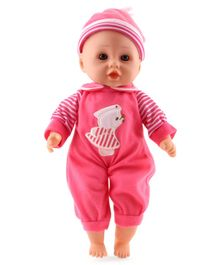 Calinou Musical Baby Doll with Accessories Pink - Height 34 cm