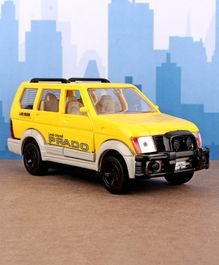 Shinsei Pull Back Toyota Land Cruiser Toy Car - Yellow