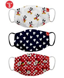Bon Organik Set Of 3 Mickey & Friends Printed Protective Masks - Multicolor
